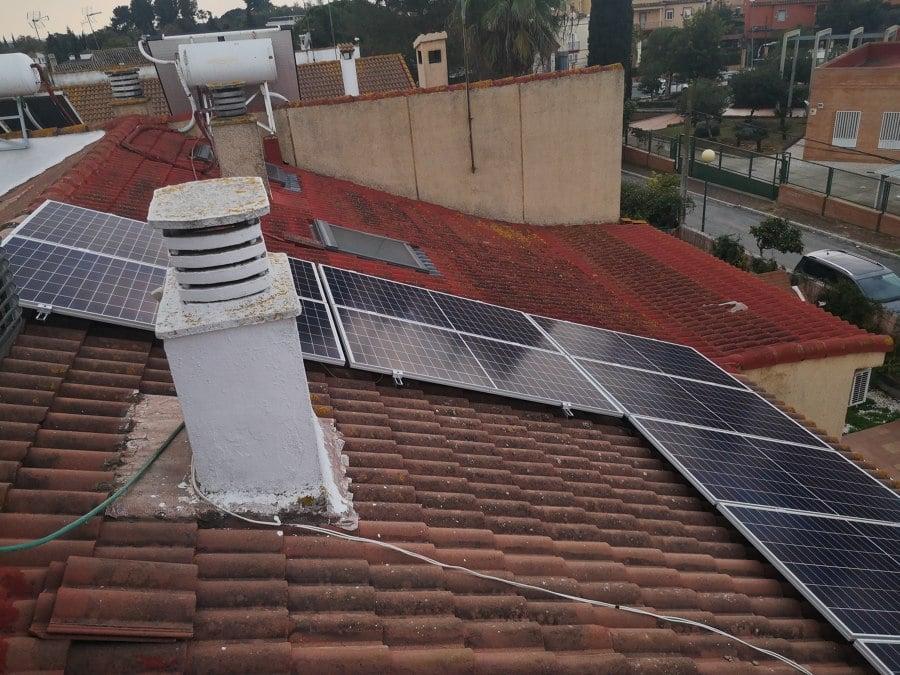 Instalación coplanar sobre teja