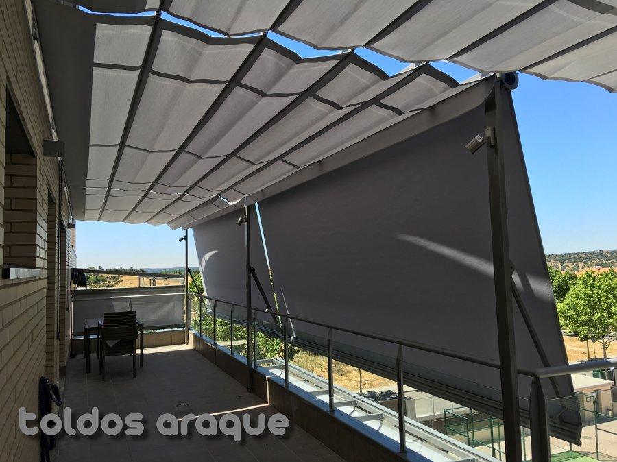 Instalacion de 4 p rgolas de aluminio 80 x 40 y 5 toldos - Toldo con cofre ...