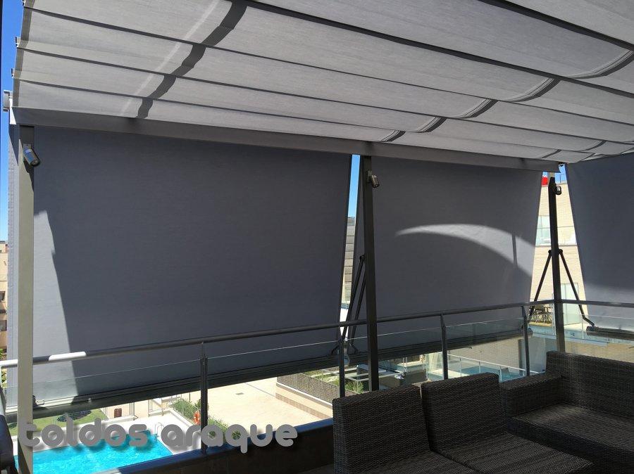 Instalacion de 4 p rgolas de aluminio 80 x 40 y 5 toldos - Toldos cofre precios ...