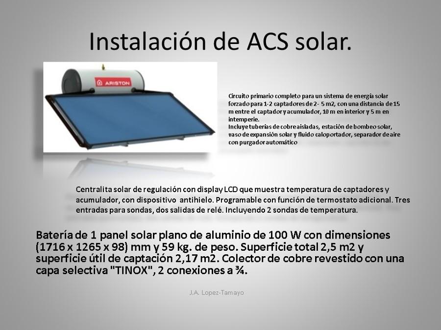 INSTALACION DE ACS SOLAR