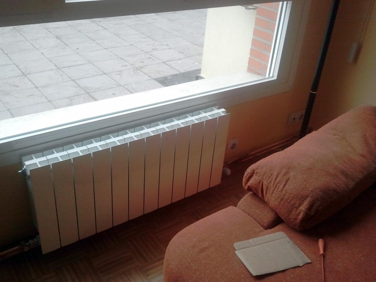 Instalaci n de calefacci n realizada en galdakao ideas - Radiadores aluminio calefaccion ...