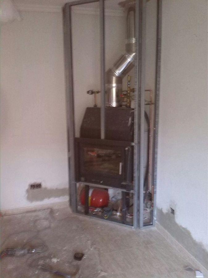 Instalaci n y construcci n de chimenea en meco madrid - Adaptar chimenea para calefaccion ...