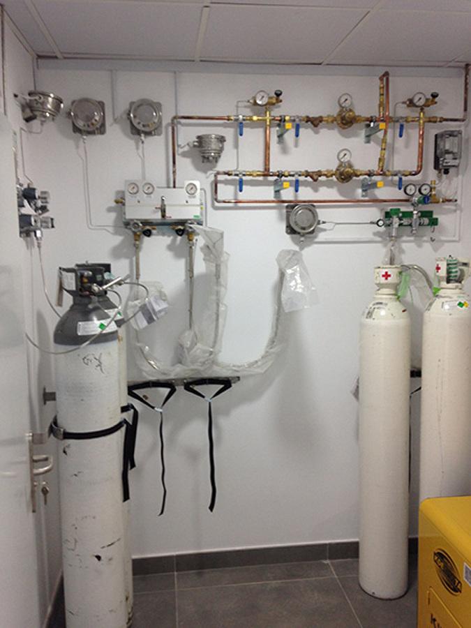 Instalacion de gases medicinales.