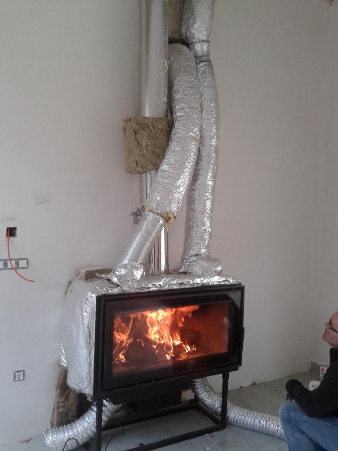 instalaci n de insertable de le a y canalizacion de aire On insertables de lena para calefaccion