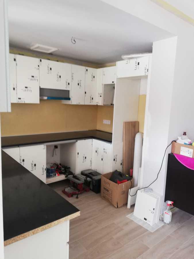 instalación de los muebles