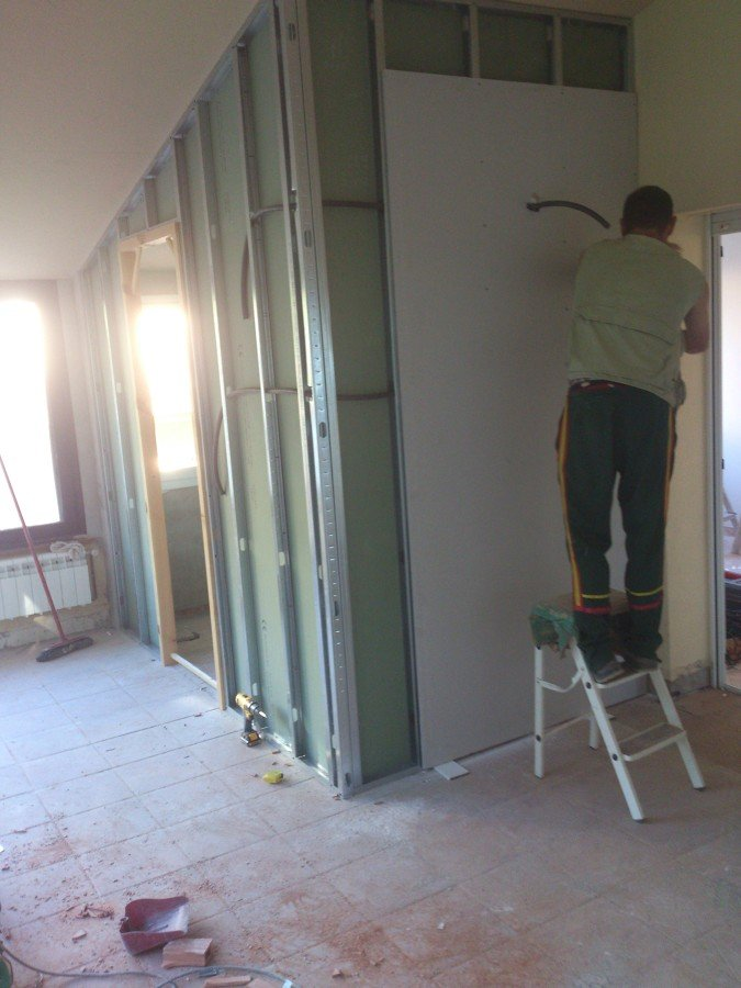 Creaci n de ba o y habitaci n en terraza ideas reformas viviendas - Paredes de pladur ...