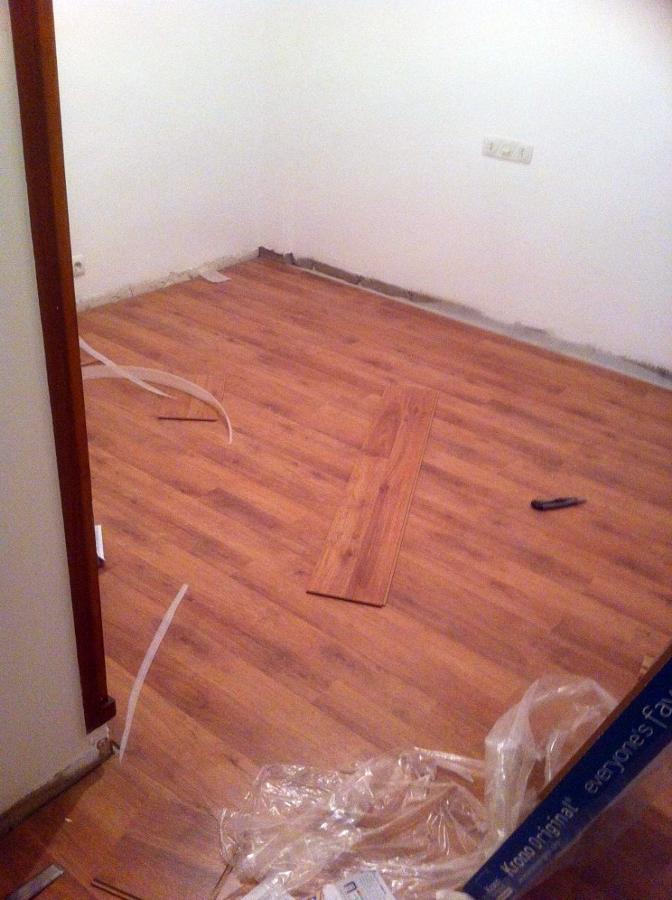 Instalación de parquet en piso de 70 m2