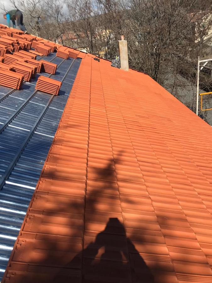Instalación de tejas