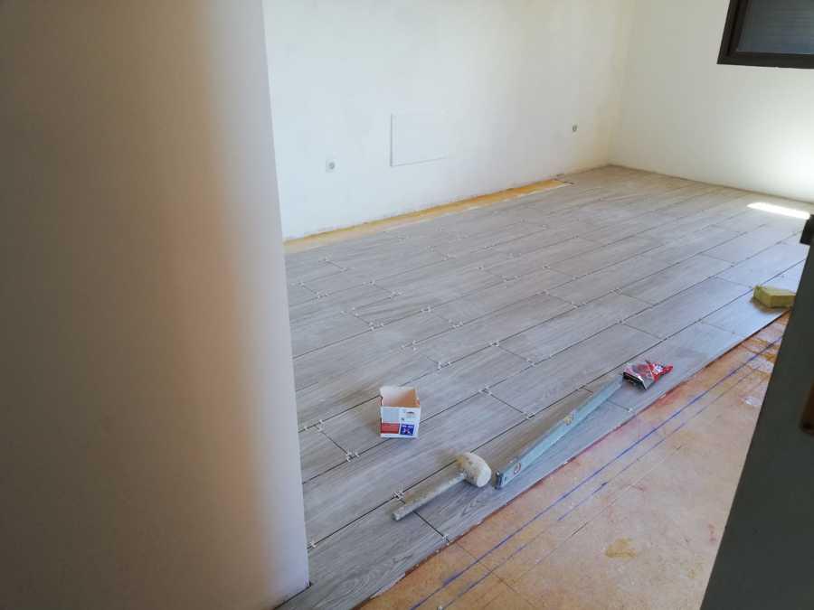 instalación del pavimento