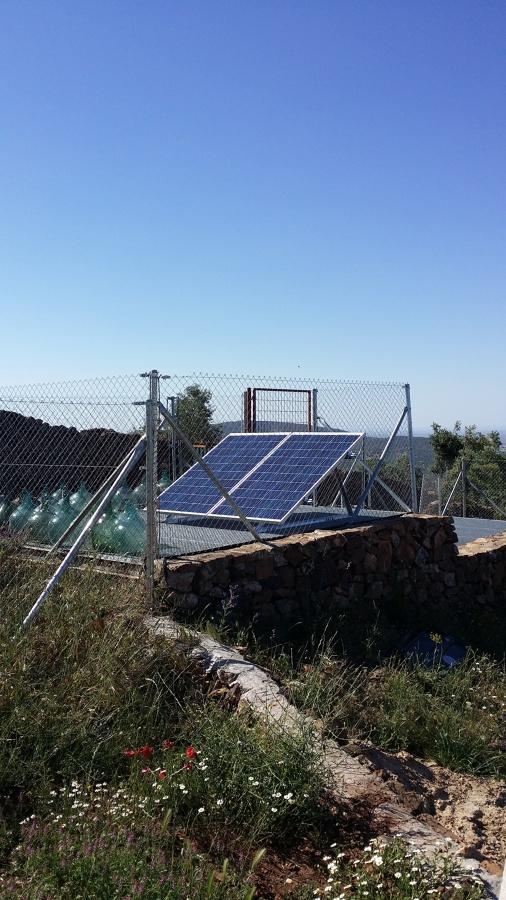 Instalación fotovoltaica en mina
