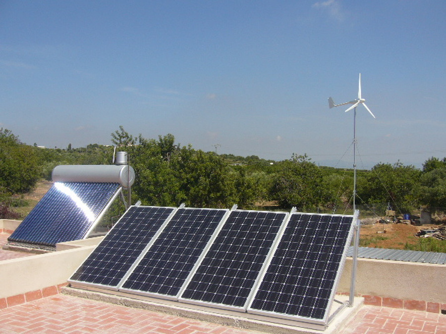 instalaci n fotovoltaica minieolica para vivienda aislada