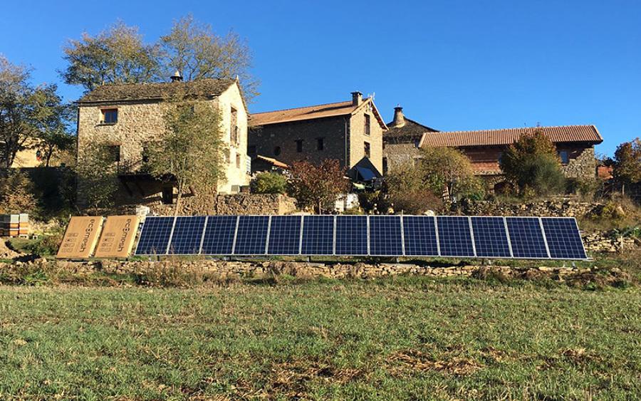 Instalación híbrida en Pirineo Aragonés