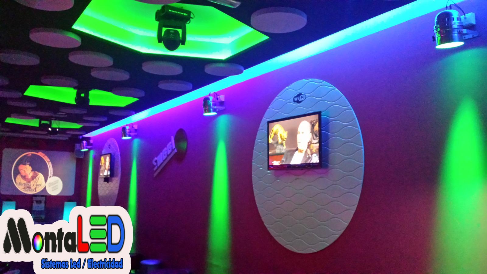 Instalaci n led e iluminaci n profesional bar de copas - Decoracion de bares de copas ...