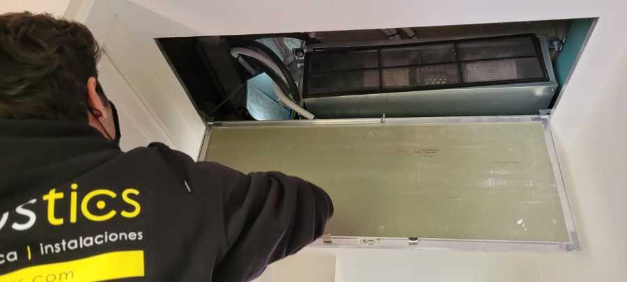 Instalación pasarela control climatización