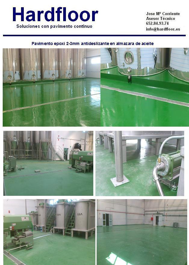 Instalación pavimento de resina epoxi en almazara aceite
