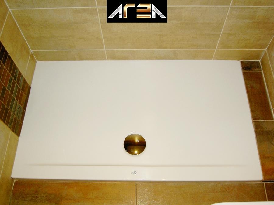Reforma de ba o con inodoro suspendido plato ducha for Plato de ducha acrilico