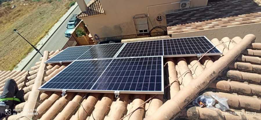 Instalación sobre tejado inclinado