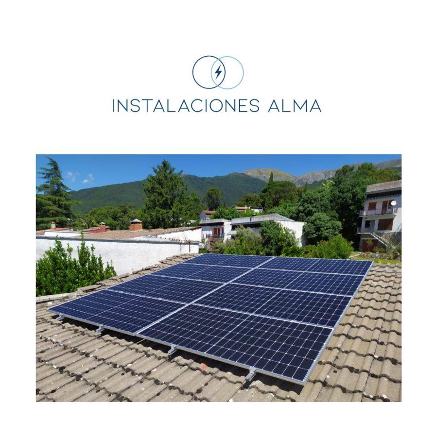 Instalación solar en Piedralaves
