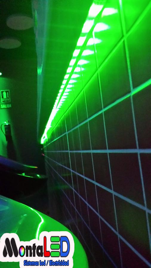 Instalación Tiras Led RGB en el interior de Barra.