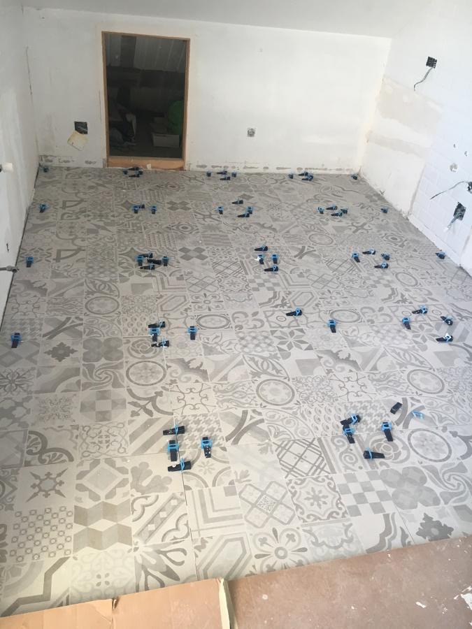 Instalando el pavimento