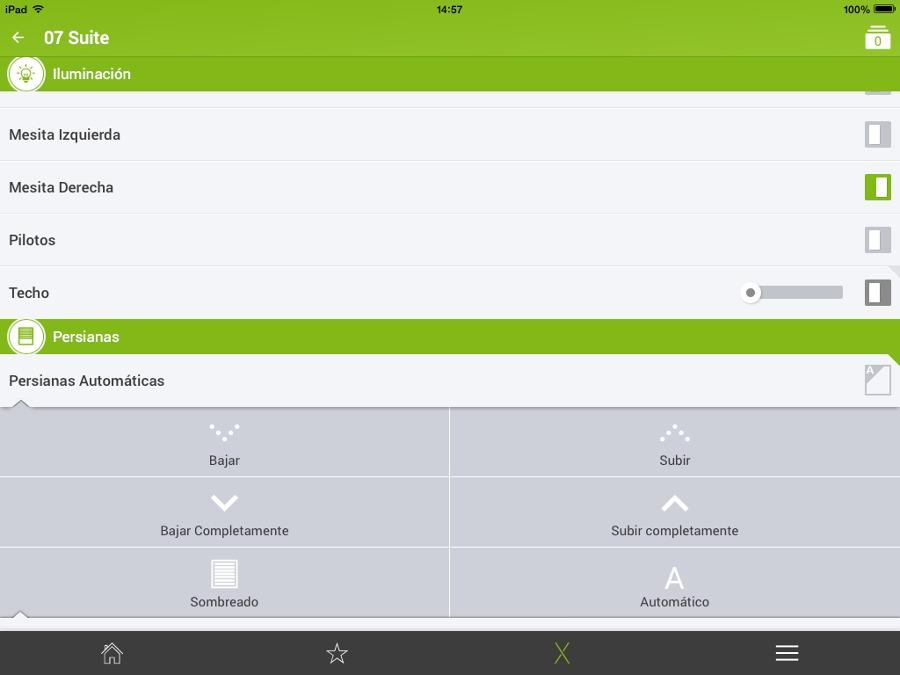 Interficie de usuario a través de iPad