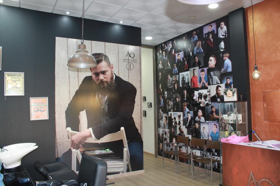 Interior barbería