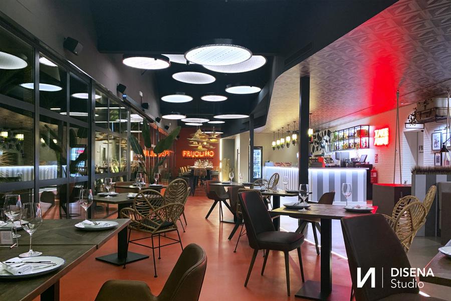 Interior restaurante Frijolino