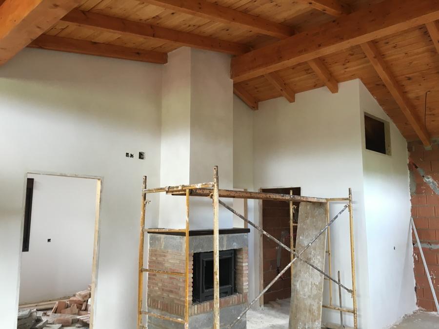 Interior tratado de la madera