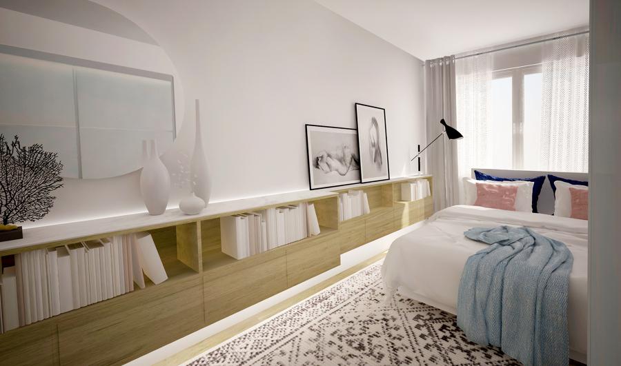 Interiorismo 3D del dormitorio
