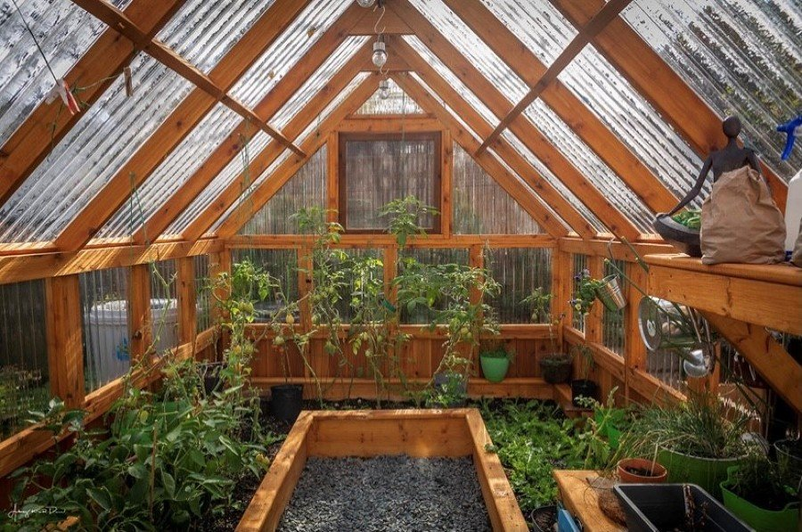 Invernadero madera