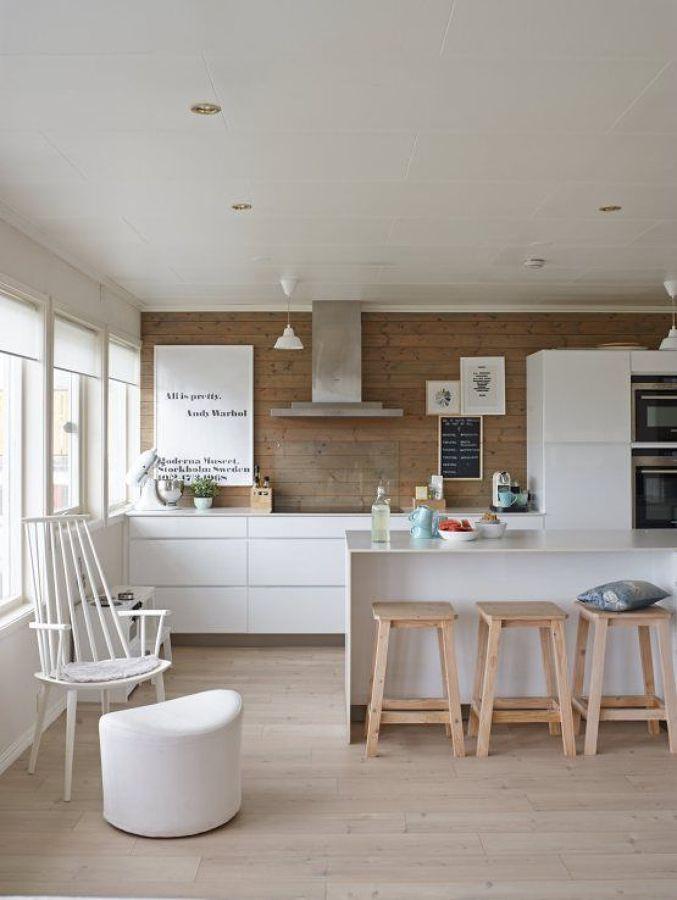 6 maneras de separar el sal n y la cocina ideas arquitectos for Cocinas con isla y salon