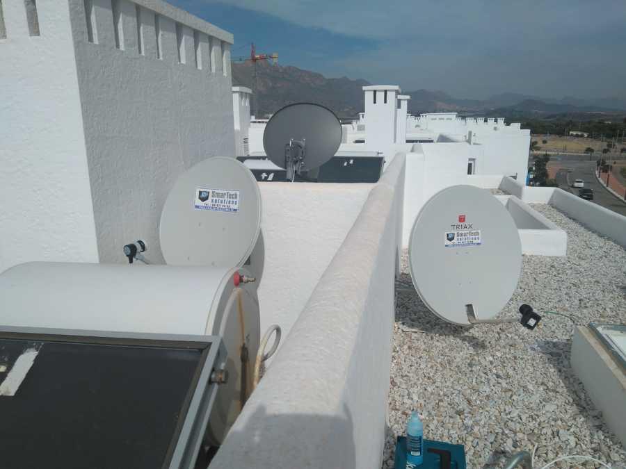 Izquierda, canales Franceses, Derecha, Antena para canales Belgas Francófonos