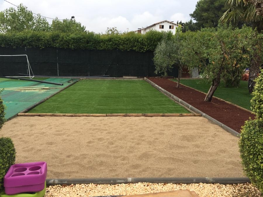 Foto jardin cesped m s playa de arena de servicios y mantenimientos jose lemos puchercos - Jardines de azahar rioja ...