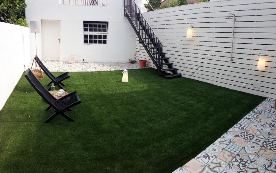 Jardín después
