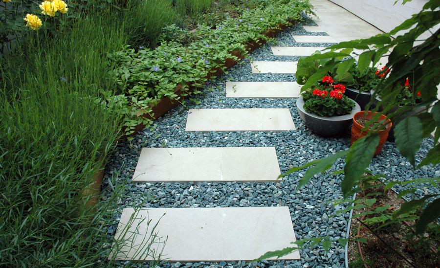 Jardín para vivienda unifamiliar