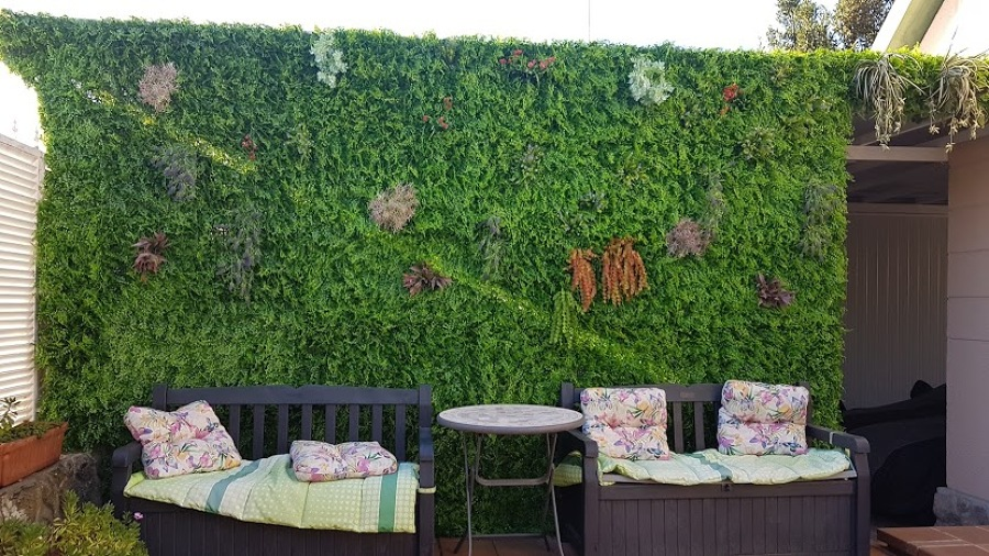 Jardín vertical separación de lugares