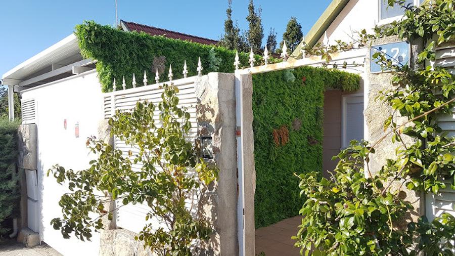 Jardín vertical vista exterior