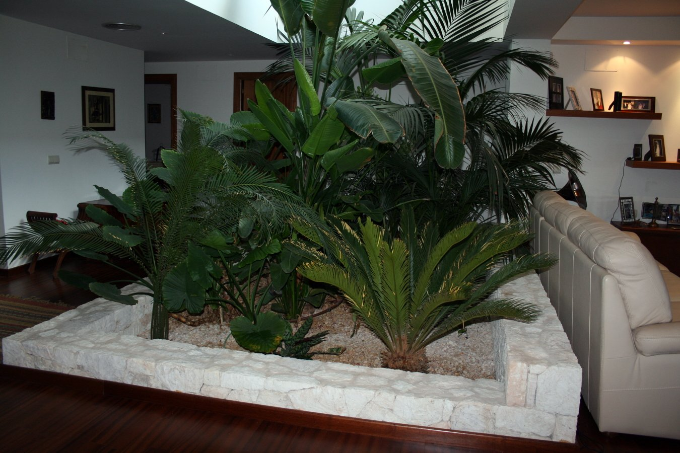 Foto jardinera interior de ibiza house proyectos y for Jardineras para patio casa