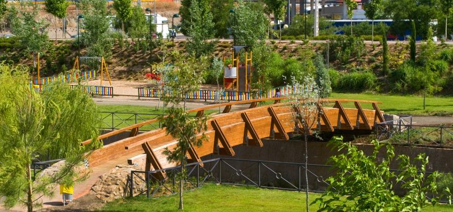 Jardines en espacios públicos