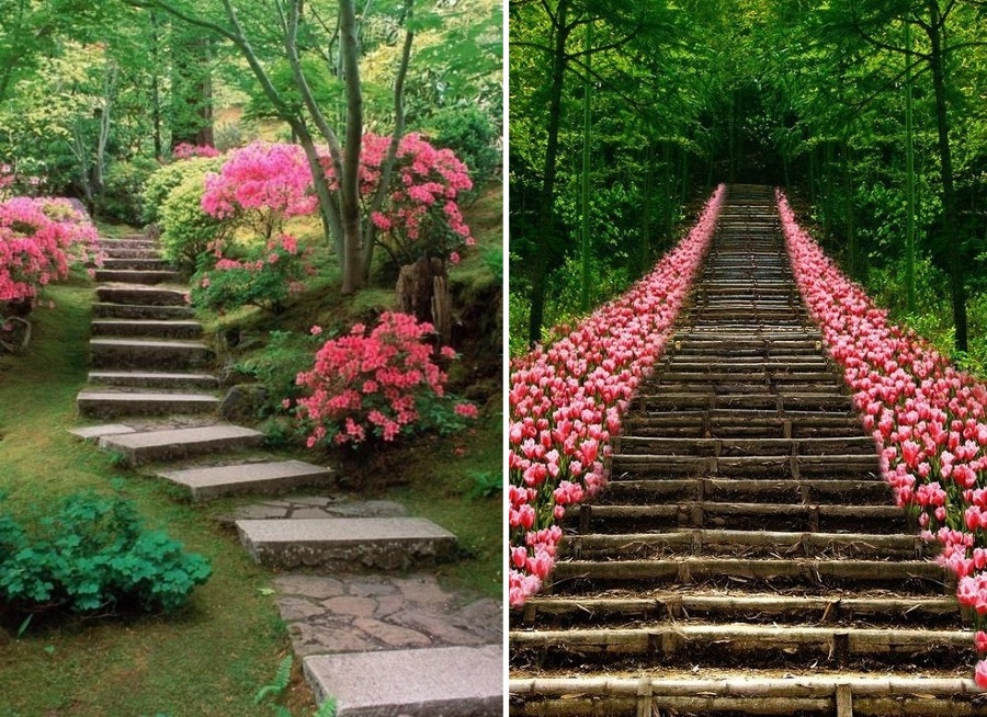 qu tipo de camino puedo usar en mi jard n ideas On jardines escalonados