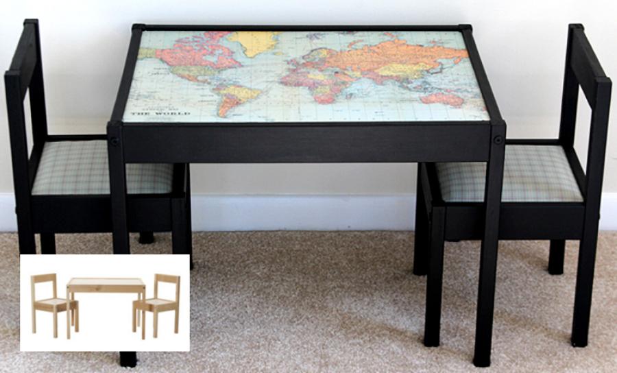 mesa tuneada, hecha con un mapa