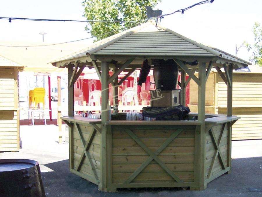 Proarte dise o fabricaci n e instalaci n de p rgolas de for Kiosco bar madera