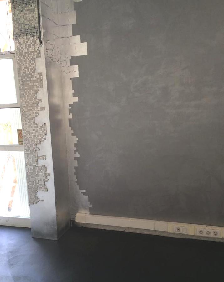 El pan de plata en la columna