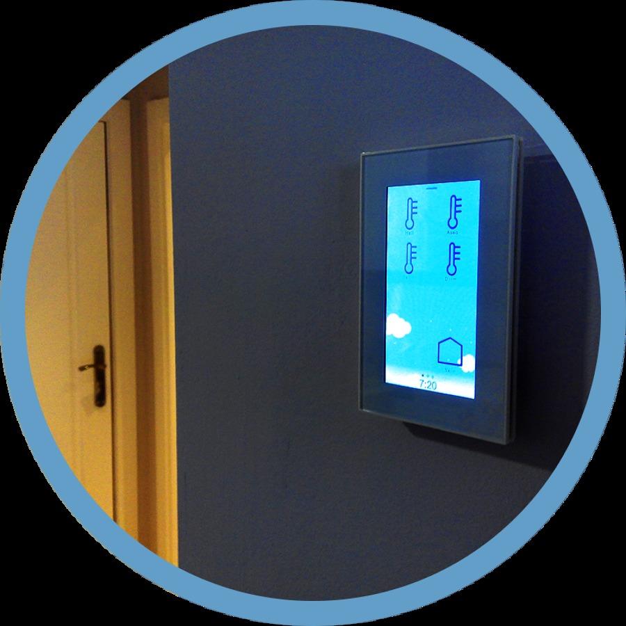 Dom tica knx en un apartamente en oviedo asturias ideas for Control de iluminacion domotica