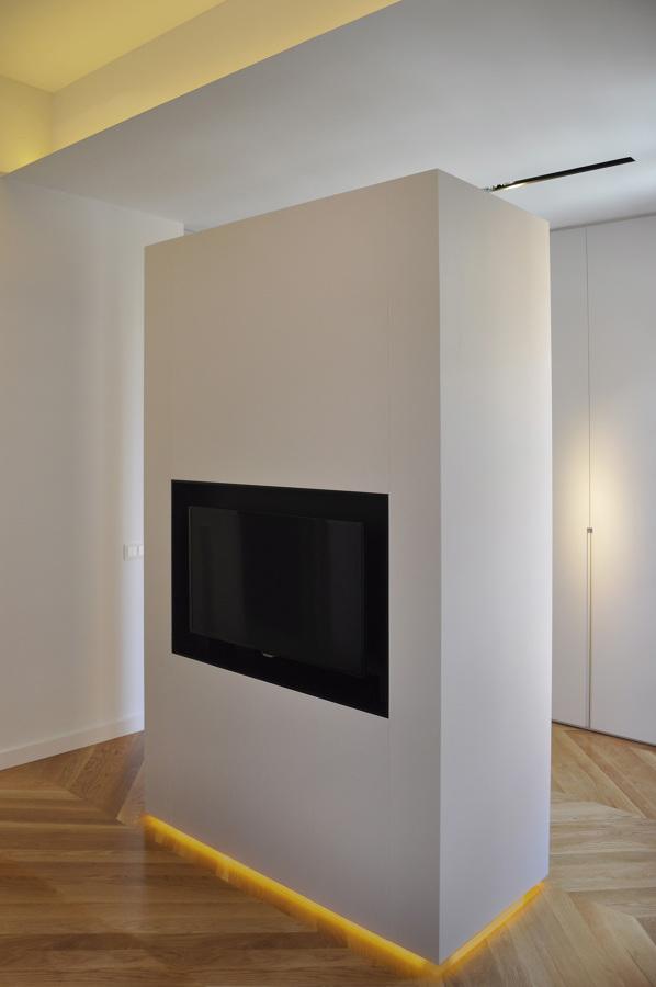 La pared con TV