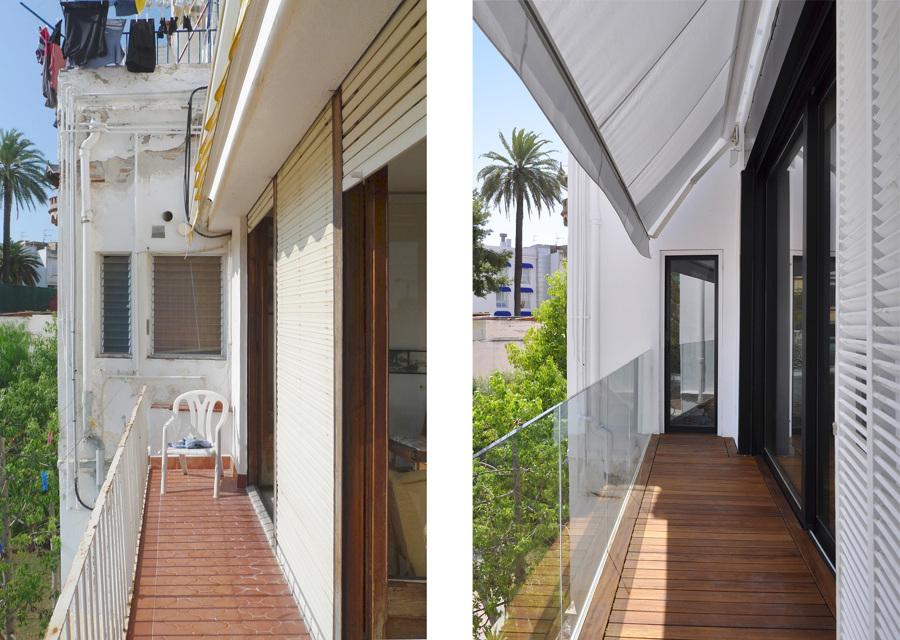 La terraza - antes y después