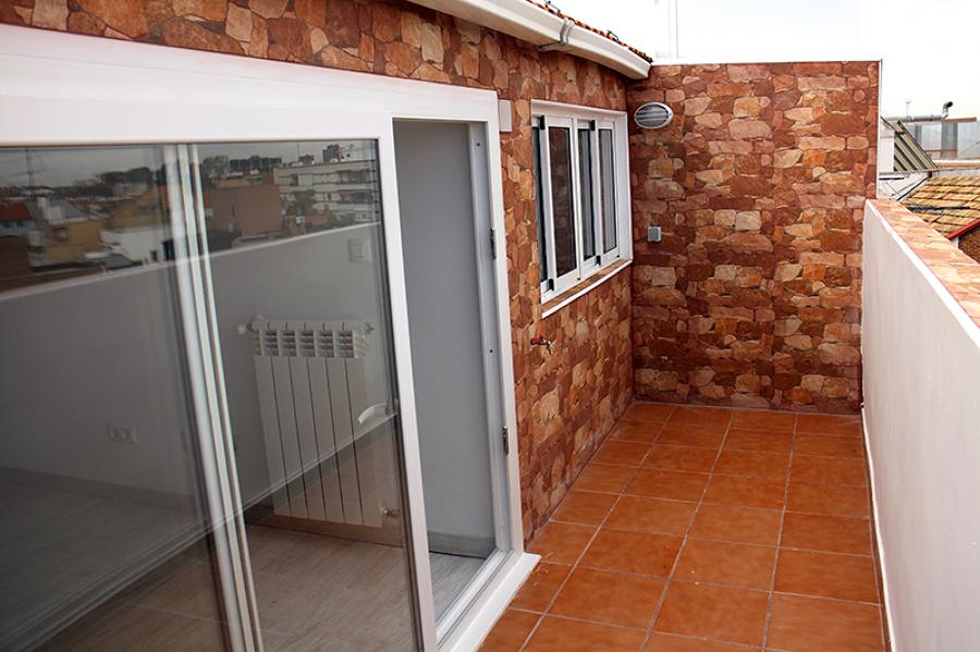 La terraza queda totalmente reformada