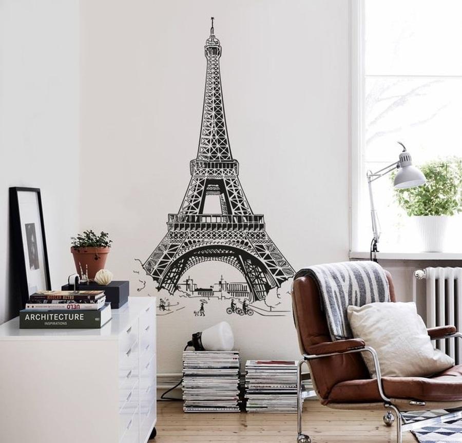 Foto la torre eiffel en vinilo de rox comunicaci n for Pegatinas de decoracion para dormitorios