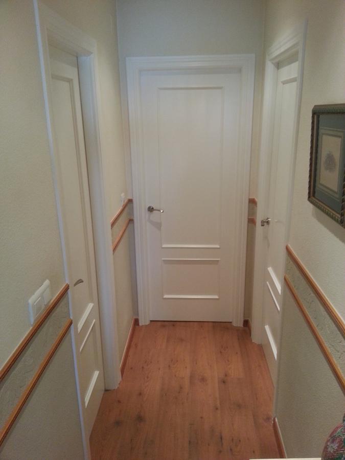 Lacado puertas de paso en blanco