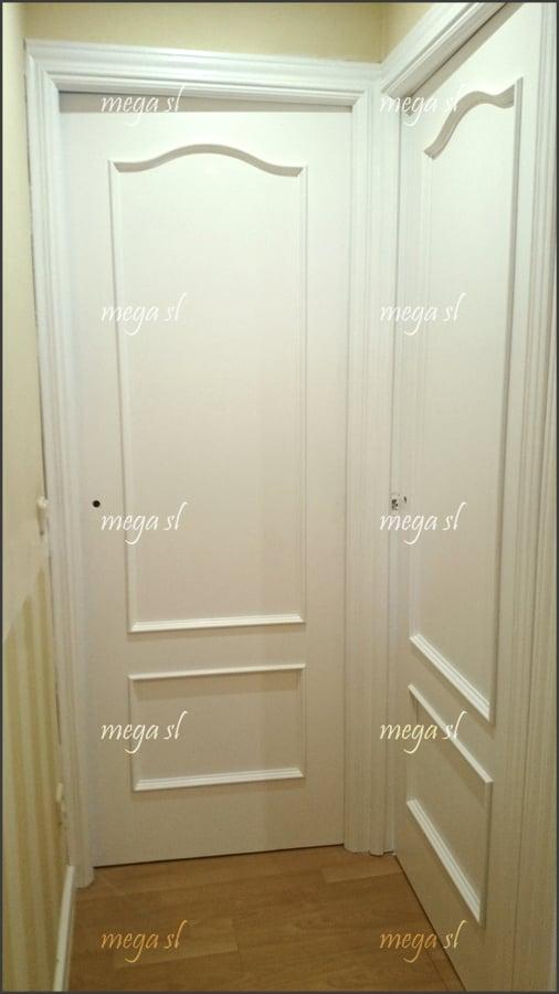 Lacar puertas en blanco y forrar la puerta de entrada - Precio lacar puertas en blanco ...